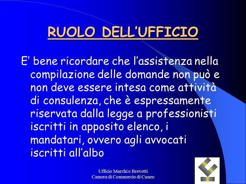 Ufficio Marchi e Brevetti Camera di Commercio di Cuneo