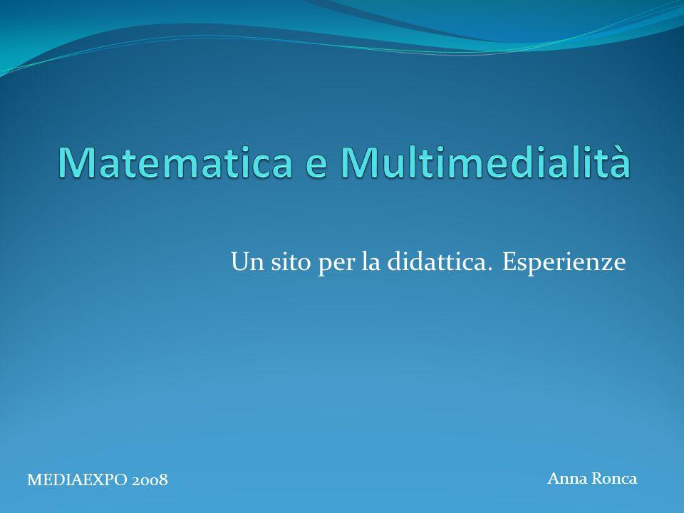 Matematica e Multimedialità