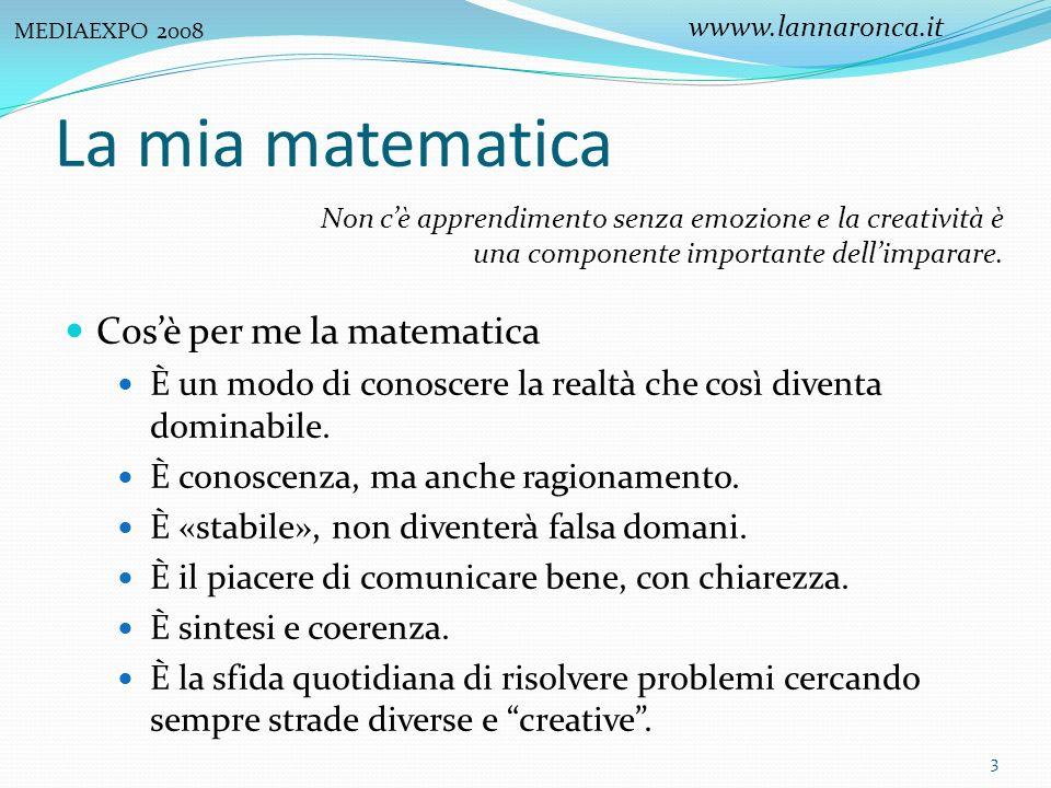 La mia matematica Cos'è per me la matematica
