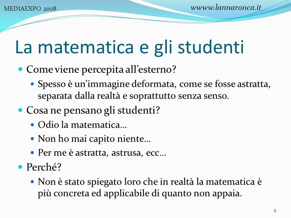 La matematica e gli studenti