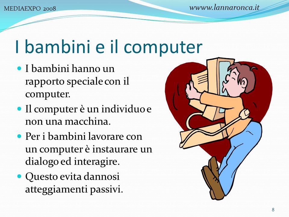 MEDIAEXPO 2008 wwww.lannaronca.it. I bambini e il computer. I bambini hanno un rapporto speciale con il computer.