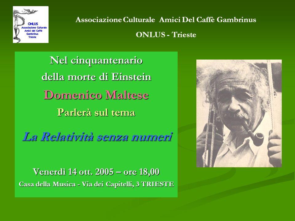 Domenico Maltese La Relatività senza numeri