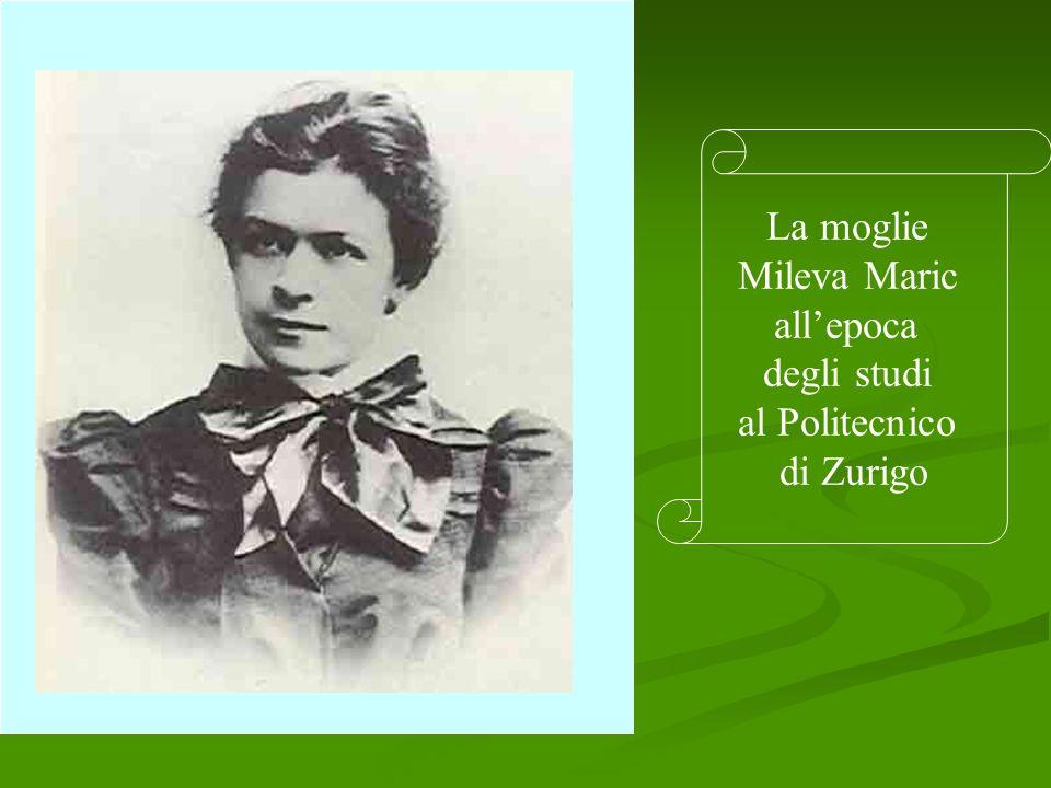 La moglie Mileva Maric all'epoca degli studi al Politecnico di Zurigo