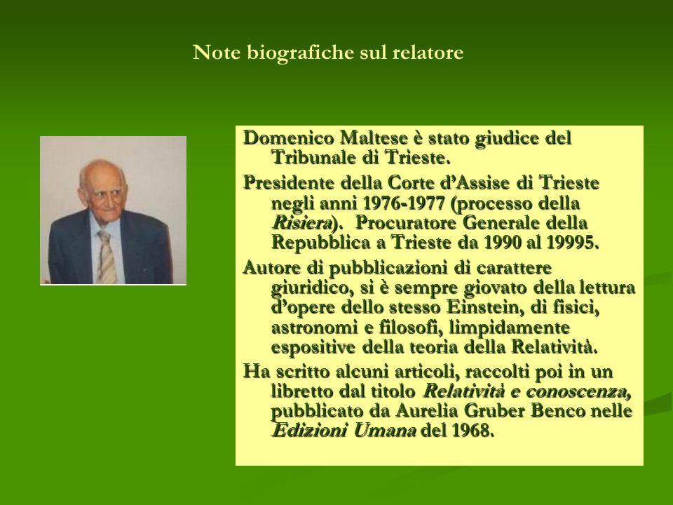 Note biografiche sul relatore