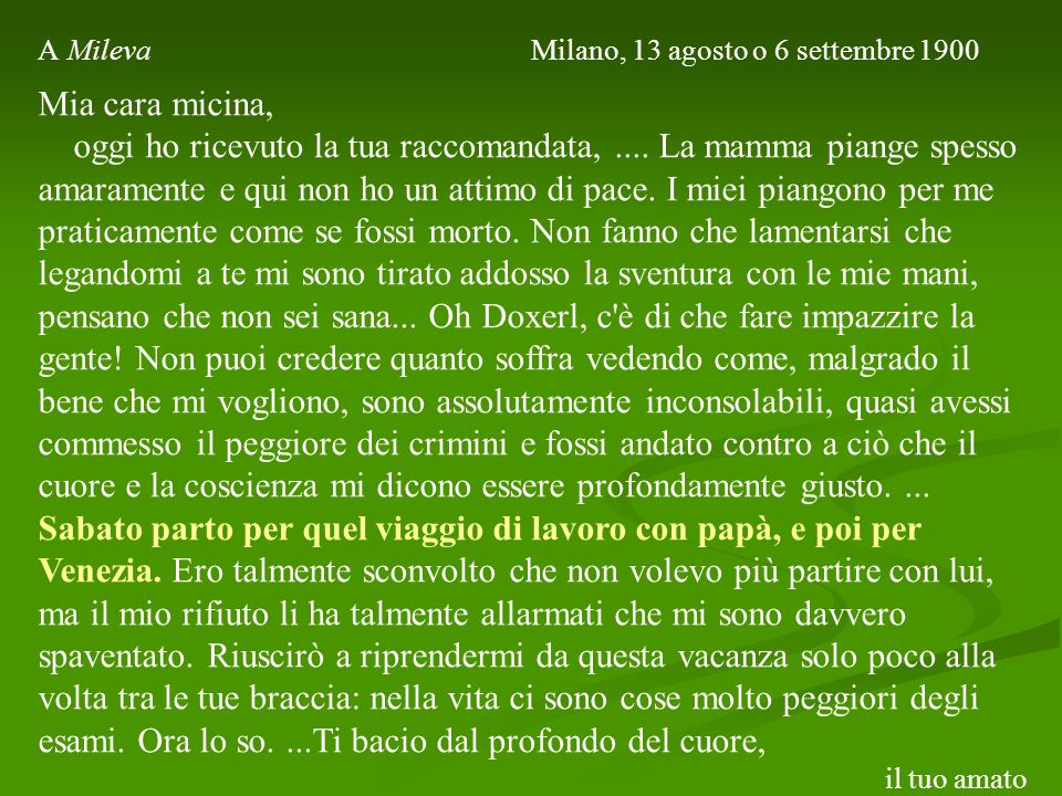 A Mileva Milano, 13 agosto o 6 settembre 1900