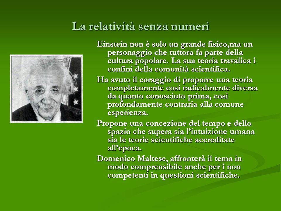 La relatività senza numeri
