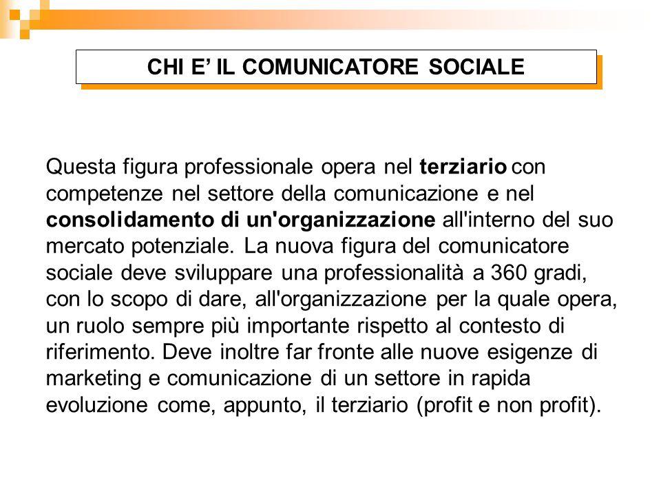 CHI E' IL COMUNICATORE SOCIALE