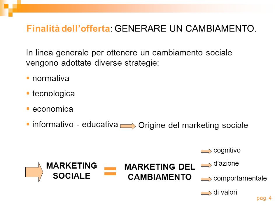 MARKETING DEL CAMBIAMENTO