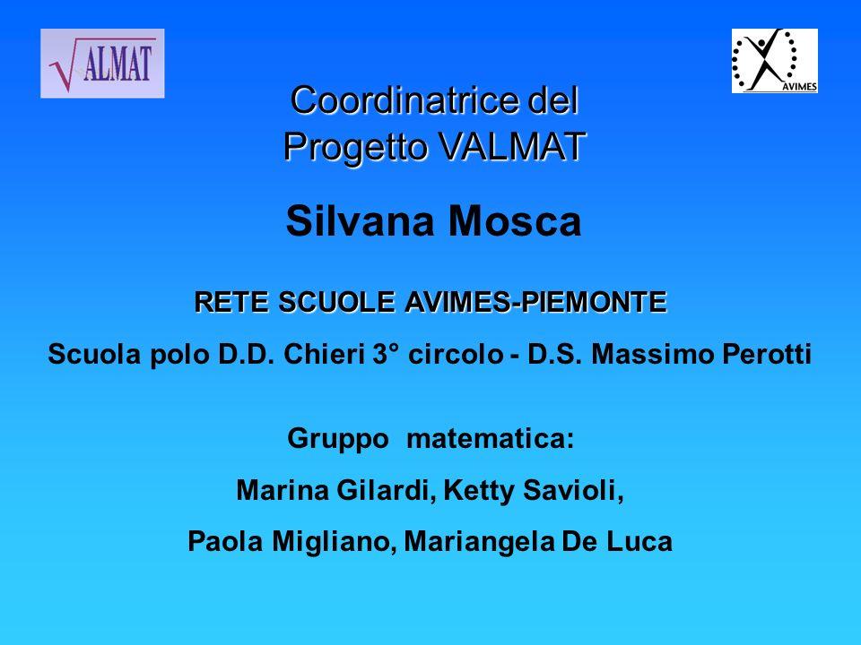 Silvana Mosca Coordinatrice del Progetto VALMAT