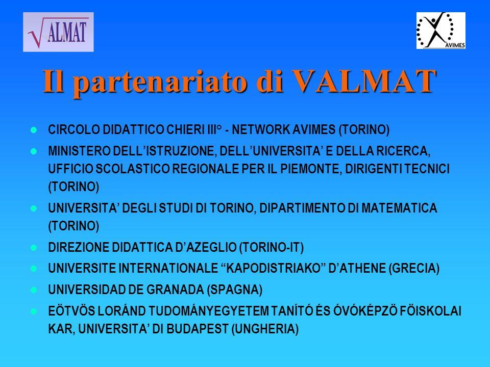 Il partenariato di VALMAT