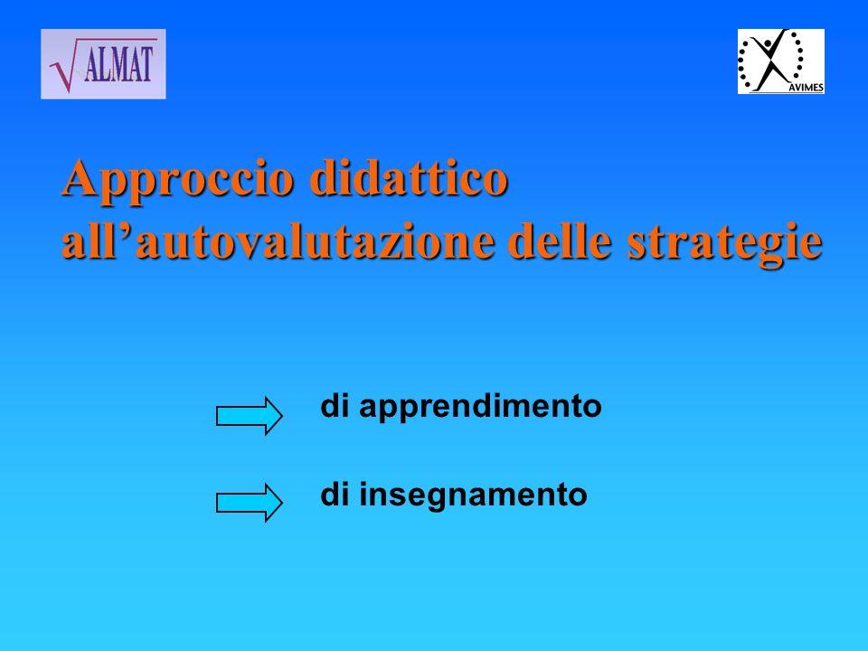 Approccio didattico all'autovalutazione delle strategie