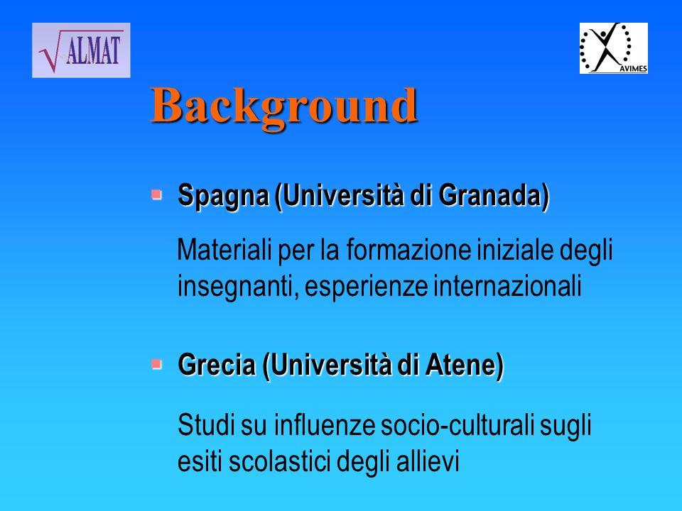 Background Spagna (Università di Granada)
