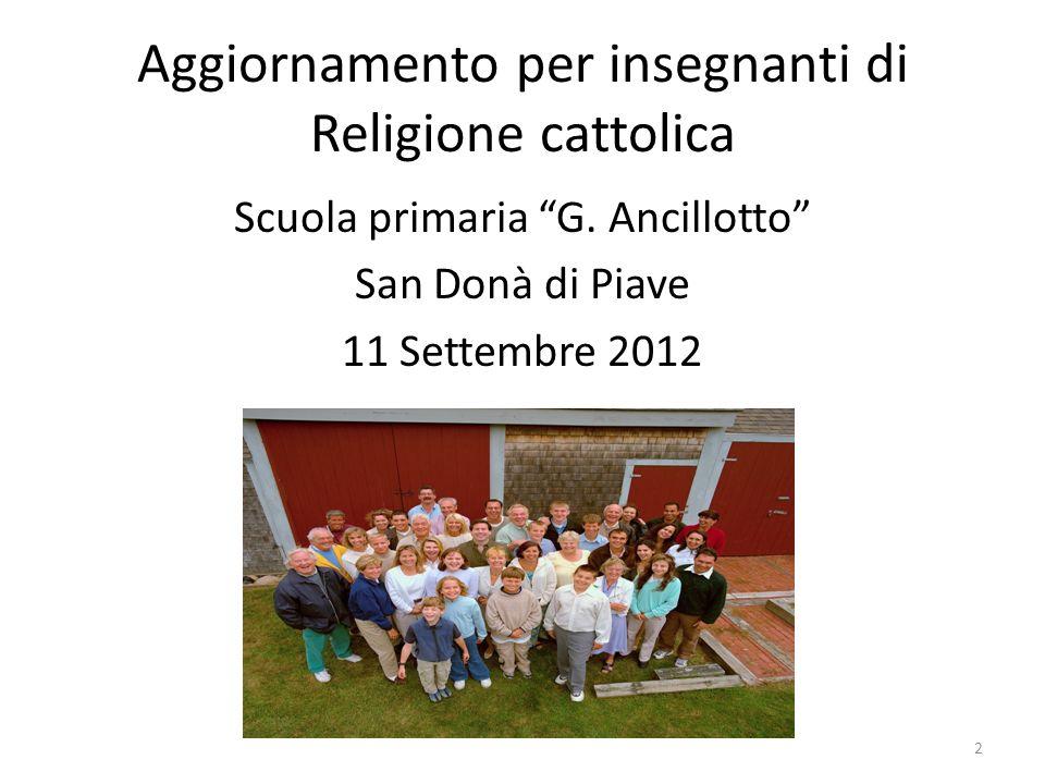 Aggiornamento per insegnanti di Religione cattolica