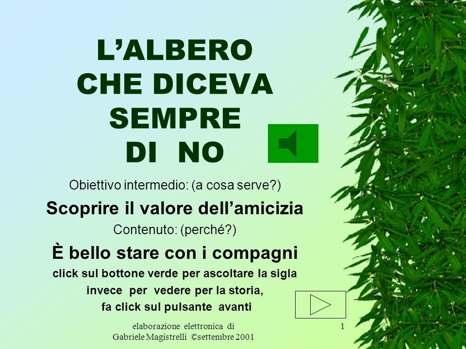 L'ALBERO CHE DICEVA SEMPRE DI NO