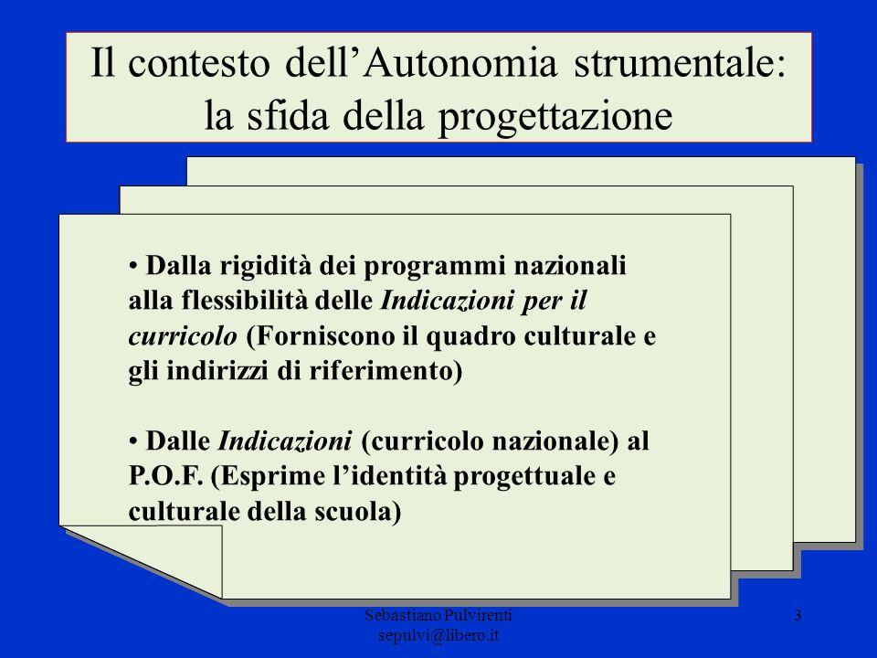 Il contesto dell'Autonomia strumentale: la sfida della progettazione