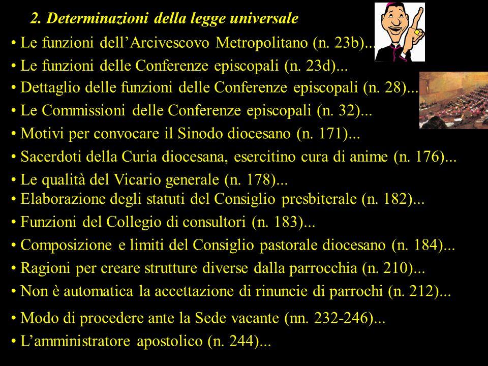 2. Determinazioni della legge universale