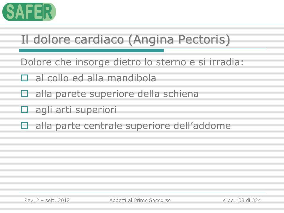 Il dolore cardiaco (Angina Pectoris)