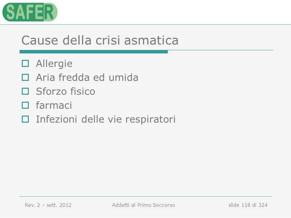 Cause della crisi asmatica