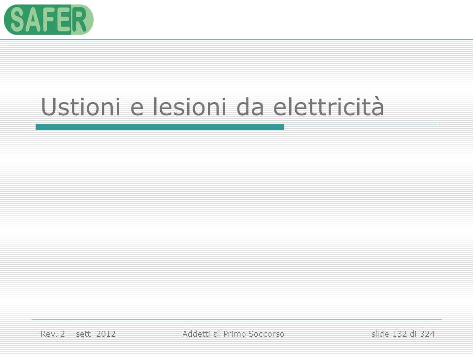 Ustioni e lesioni da elettricità