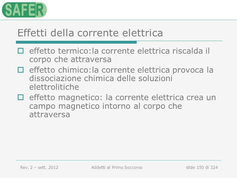 Effetti della corrente elettrica