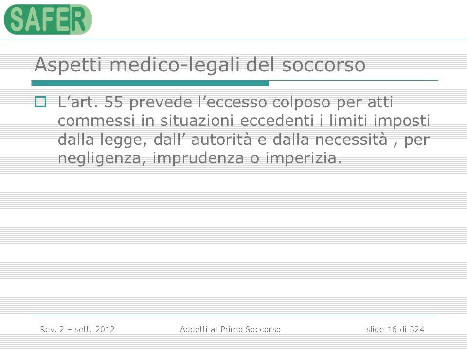 Aspetti medico-legali del soccorso
