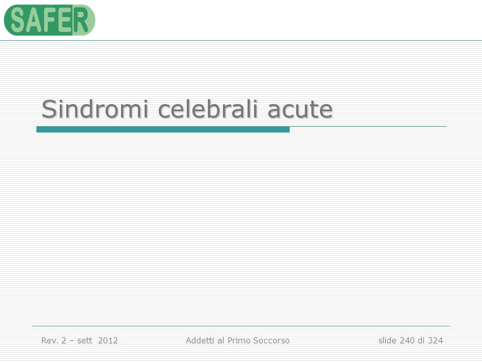 Sindromi celebrali acute