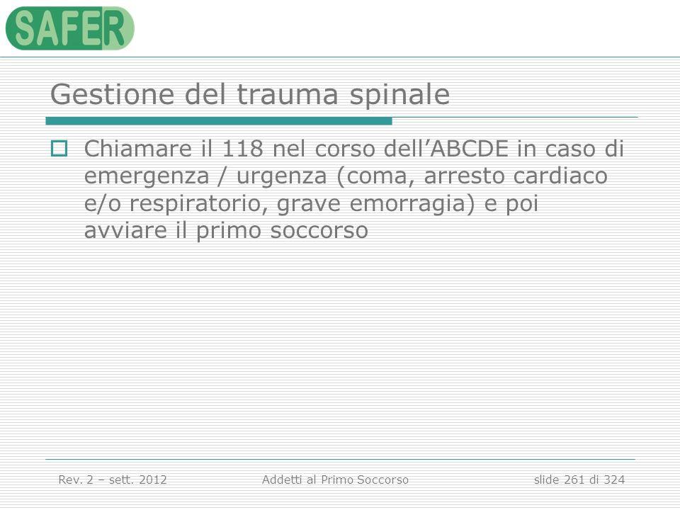 Gestione del trauma spinale