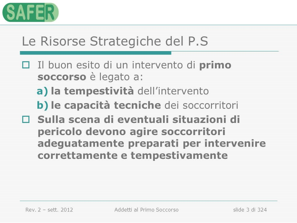 Le Risorse Strategiche del P.S