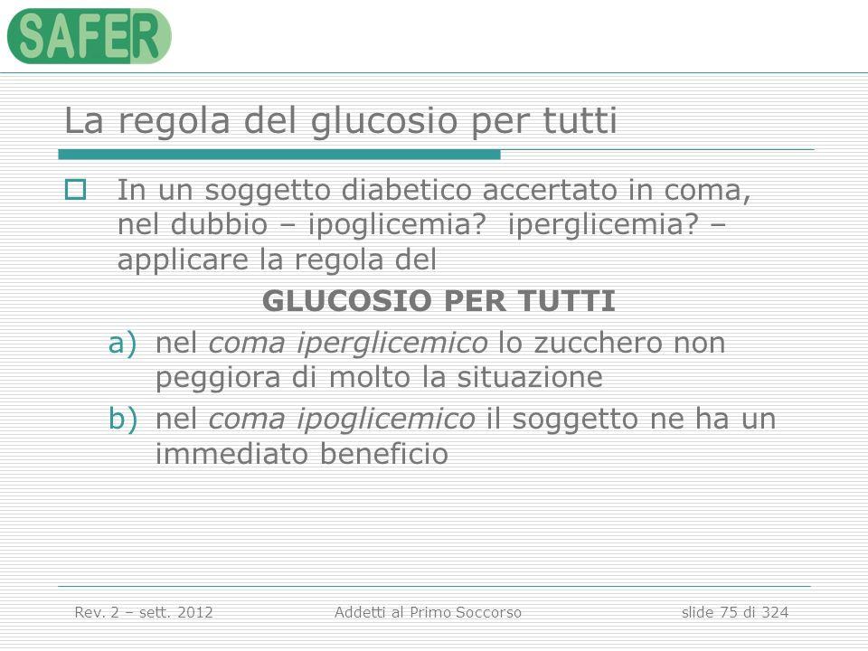 La regola del glucosio per tutti