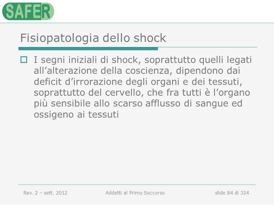 Fisiopatologia dello shock
