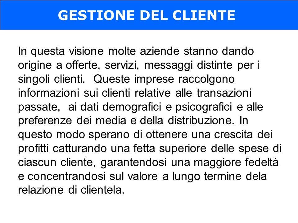 GESTIONE DEL CLIENTE