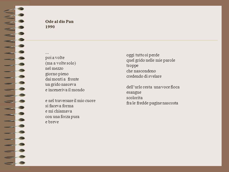 Ode al dio Pan 1990