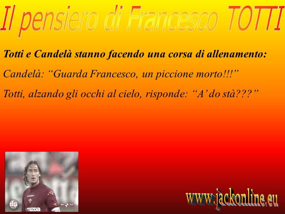 Totti e Candelà stanno facendo una corsa di allenamento: