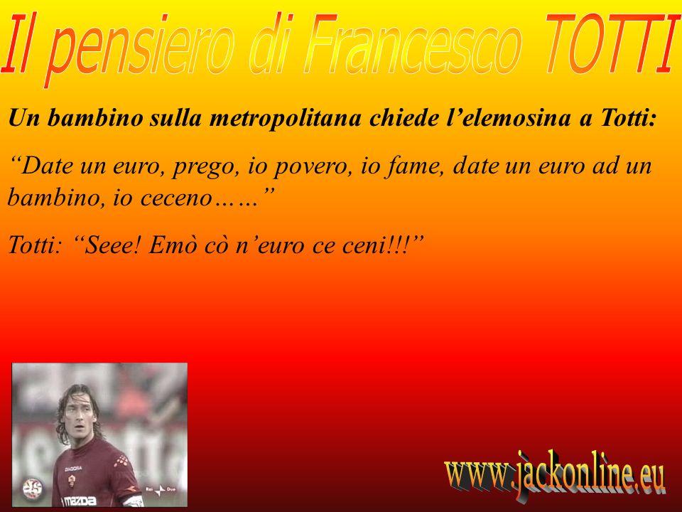 Un bambino sulla metropolitana chiede l'elemosina a Totti: