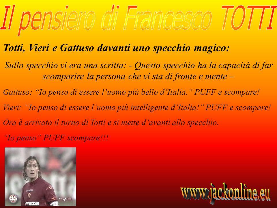Totti, Vieri e Gattuso davanti uno specchio magico: