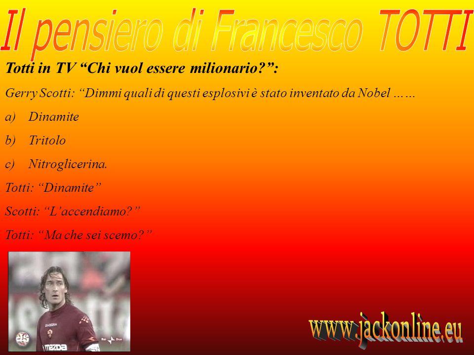 Totti in TV Chi vuol essere milionario :