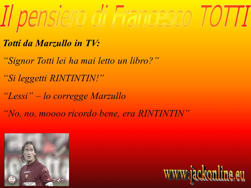 Totti da Marzullo in TV: