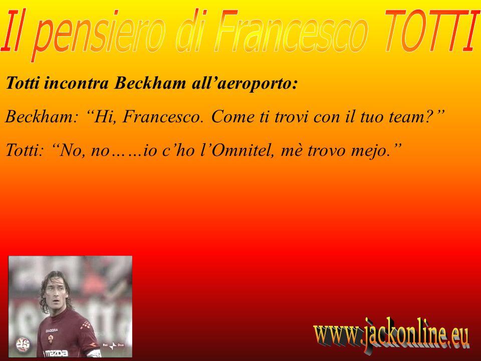 Totti incontra Beckham all'aeroporto: