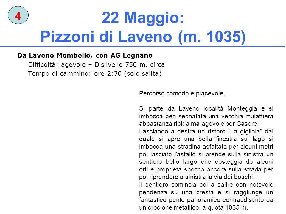 22 Maggio: Pizzoni di Laveno (m. 1035)