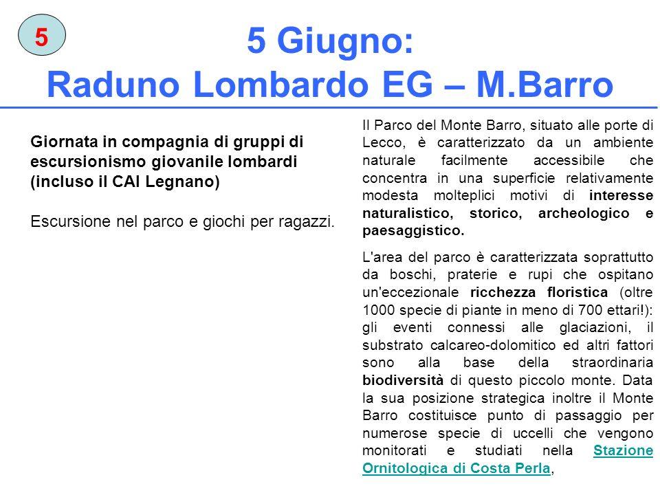 5 Giugno: Raduno Lombardo EG – M.Barro