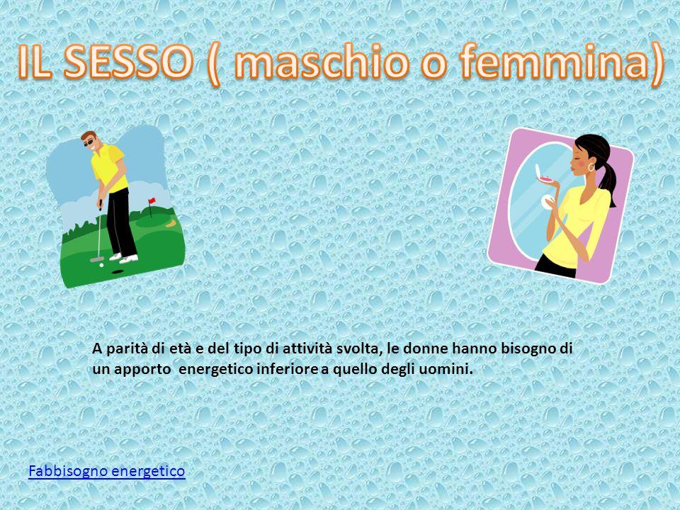 IL SESSO ( maschio o femmina)
