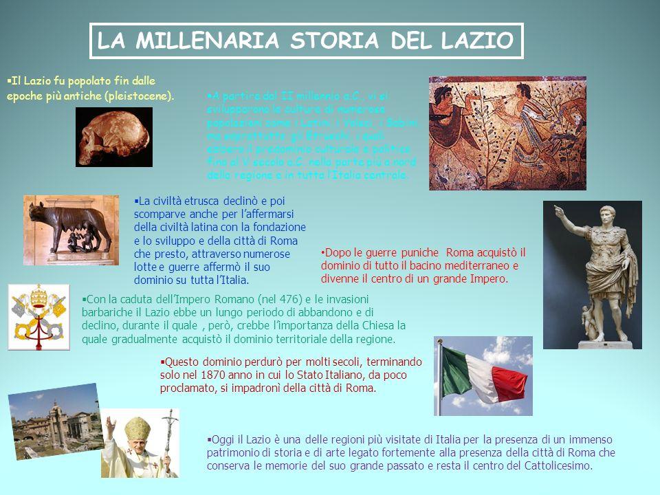 LA MILLENARIA STORIA DEL LAZIO