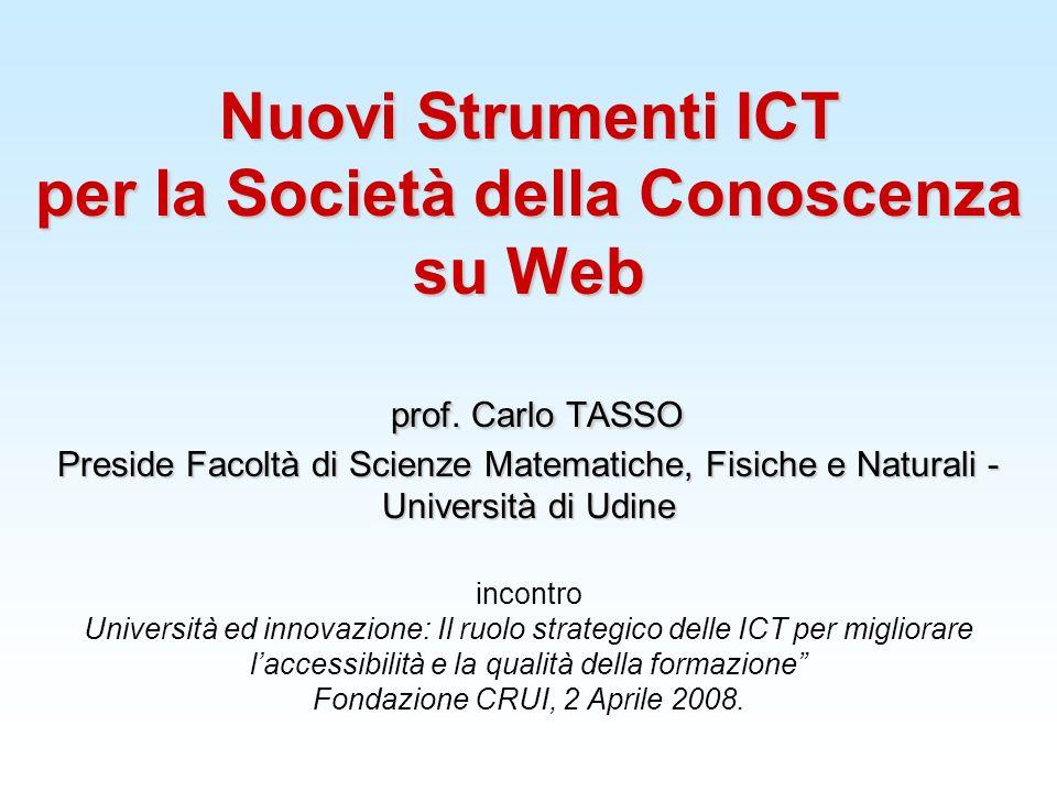 Nuovi Strumenti ICT per la Società della Conoscenza su Web prof