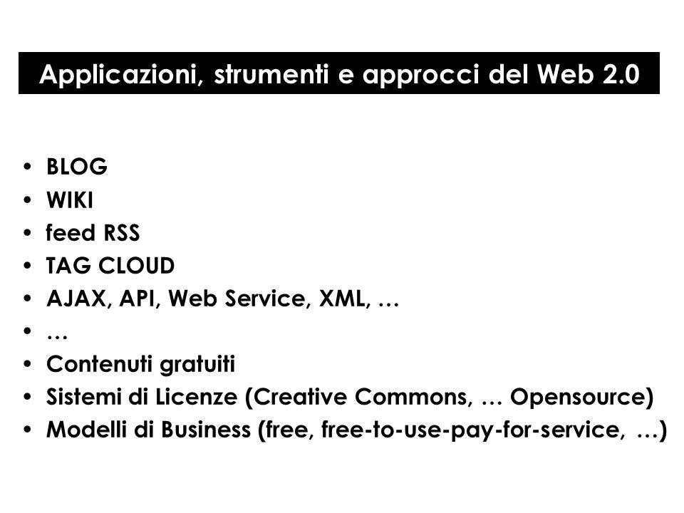 Applicazioni, strumenti e approcci del Web 2.0