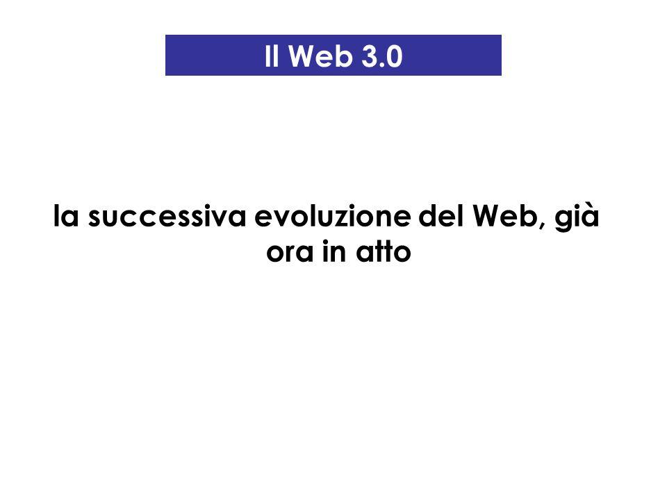 la successiva evoluzione del Web, già ora in atto