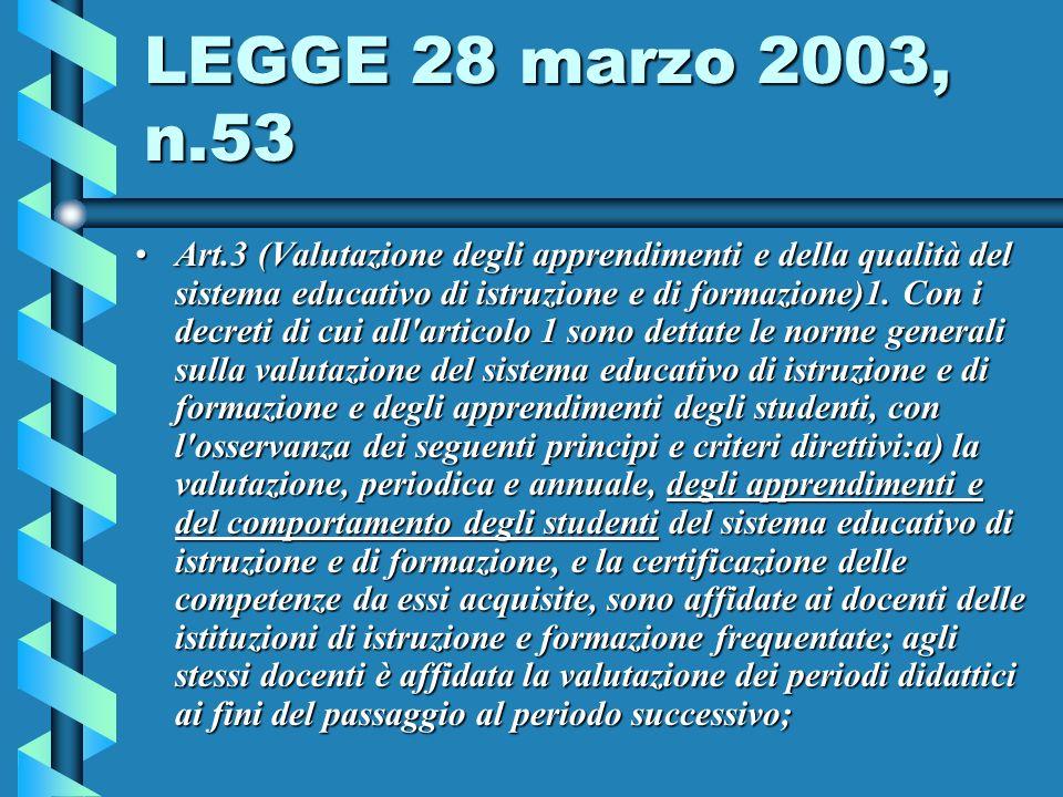 LEGGE 28 marzo 2003, n.53