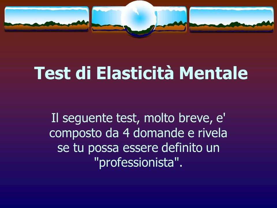 Test di Elasticità Mentale