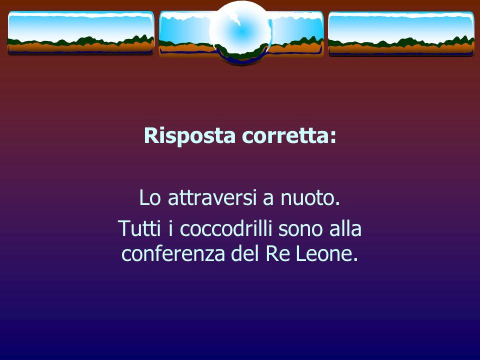 Tutti i coccodrilli sono alla conferenza del Re Leone.