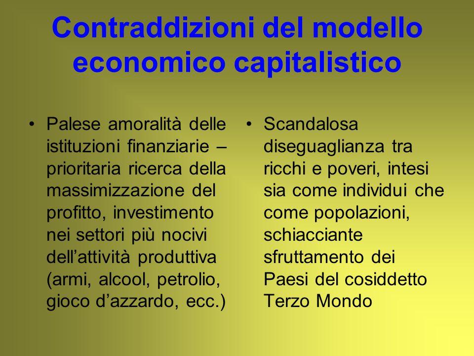Contraddizioni del modello economico capitalistico