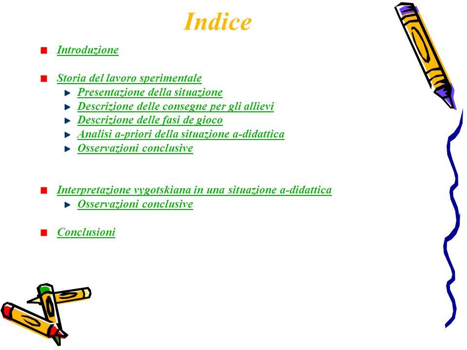 Indice Introduzione Storia del lavoro sperimentale